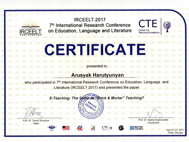 medium of instruction certificate